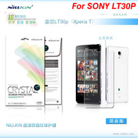 Original Nillkin High-Level CRYSTAL High Clear Anti fingerprint Screen Protector Film Guard for SONY LT30p+Retail Box