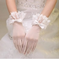 TBG3 Exquisite stereo laciness elastic  bridal wedding gloves aesthetic series