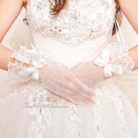 TBG13 Wrist short style finger wedding gloves free size in stock