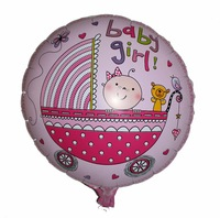 Free Shipping Baby Shower Party Pink It's a Girl Decoration Foil Helium Balloons Baby Birthday Celebrate