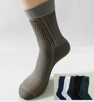 Free Shipping 40pcs=20pairs/lot Man's Fashion Socks, half stocking from factory, stripe style