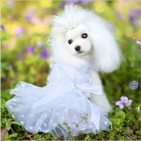 2014 New Pet Dog Summer Dress, Princess Dress, Dog Cat Clothes Free Shipping