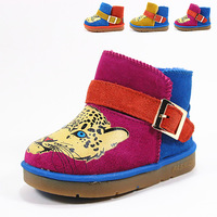 Genuine leather skin scrub snow boots baby boots thickening thermal slip-resistant outsole cow muscle male female child