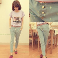 Spring 2014 juniors clothing HARAJUKU skinny jeans pants harem pants honey fashion preppy style