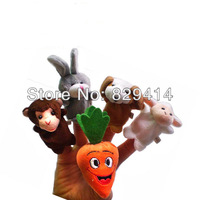 """10pcs/lot Animal Shaped Cloth Finger Toys for Learning & Education Children Finger Puppets""""The Giant Carrot"""""""