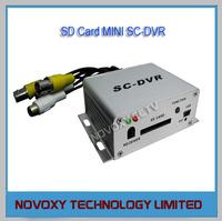 Free Shipping Plug&Play 1Channel SD Card Mini Car Vehicle Bus Mobile CCTV DVR Digital Video Recorder AV Recorder Dual Stream
