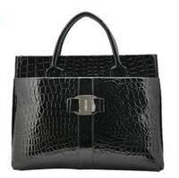 Hot Casual  Women Handbag Luxury OL Lady Crocodile Pattern Hobo Tote Shoulder Bag Black & Red