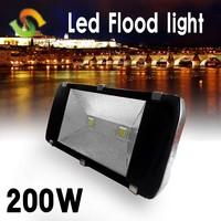 Free Shipping Factory Supply 200W Bridgelux Chip 85-265V Warranty 3 Years 50000H Lifespan CE RoHS High Lumen 200W LED Floodlight