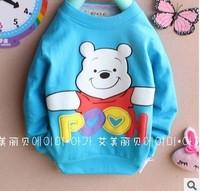 Free shipping 2013 new autumn boys girls t-shirt children's cartoon  shirt children's long-sleeved t-shirt A023