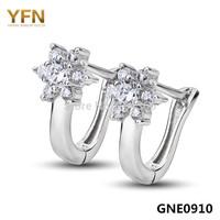GNE0910 Fashion women's jewelry Earrings, Wholesale 925 Sterling silver micro pave CZ Hoop Earrings elegant jewelry