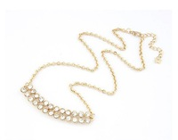 New 2014 hot sale Europe And The United States Elegant All-match Rhinestone Pendants Necklace Free shipping!