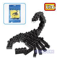 Scorpion Black Animal LOZ Diamond Nano Mini Building Blocks Enlighten Bricks Toy
