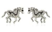Wholesale 18K Gold Plated Austrian Crystal Horse Earrings,Fashion Earrings,Fashion Wedding Jewelry MGC37034319302