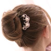 David jewelry wholesale T45  fat plug rhinestone hair fork maker hairpin comb hair pin hair jewelry bridal tiara comb for hair