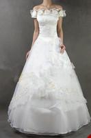2015 Flowers sweetheart princess wedding dress bride wedding formal dress plus size
