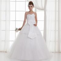 new 2015 bride wedding dress formal dress tube top rhinestone maternity plus size princess wedding dress