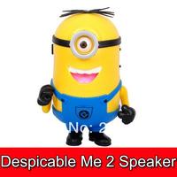 20pcs Despicable Me 2 carton mini speaker support U-disk and TF card slot W/ FM retail box