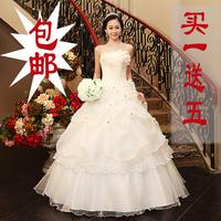 2014 bride wedding classic tube top princess wedding dress white wedding dress 121