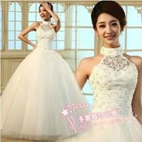 30 triangle set 2013 sweet princess elegant halter-neck diamond strap wedding qi