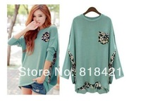 Fashion Ladies Loose Batwing Tops Shirt Irregular Blouse T-Shirt UK size 8-16