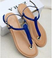 Fashion 2014 fashion flip-flop flat heel sandals flat flip t female shoes size 35-40