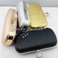 New Arrival Stylish studded evening bag high quality rings clutch purse mini shell hard case tree embossed handbag free shipping