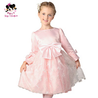 Princess 2014 female child spring puff skirt dress long-sleeve dress yarn skirt  wedding party dress