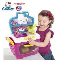 Free Shipping! new 2014 hello kitty kitchen toys for girls high quality cute children's cookware