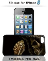 The naked eye 3D skull series cell phone case for iphone4/4S&for iphone5/5S