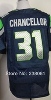 Free shipping wholesale #31 Kam Chancellor Men's Navy Blue 2014 New American football jerseys Cheap Sale Accept mix order