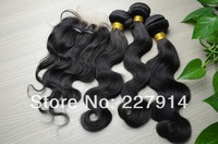 Queen Hair Products 3  three part Top Lace Closure With Bundles filipino Virgin Hair body Wave 3Pcs Lot,filipino virgin hair