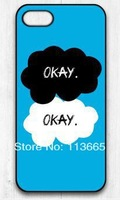 Free shipping The Fault In Our Stars Okay OK Protective Hard case cover for iphone 5s 5 4s 4