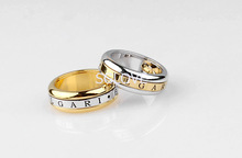 SGLOVE-Letter Series! 18K Genuine Gold and Platinum Plated Alternate Refinement Band Ring with Perfect Lines&Radian Freeshipping