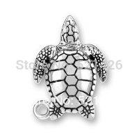 HOT SALE Fashion Antique Silver Free Shipping Romantic Marine Series Sea Turtle Charm 184483