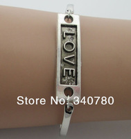 2014 new items Silver bangle love for lovers bracelet charm bangle bracelet thick and solid metal bangle  vintage bangles N44