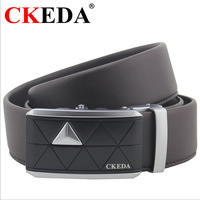 Ckeda male genuine leather strap cowhide belt all-match belt automatic buckle strap