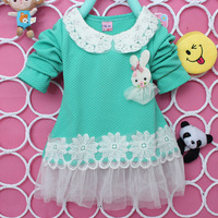 Girls spring and autumn female child fashion gauze long-sleeve  flower girl dress children dress
