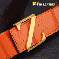 Genuine leather strap casual cowhide belt z buckle all-match belt