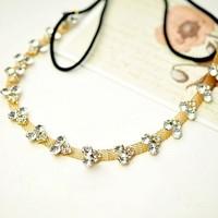 Sheegior 2014 New Fashion rhinestone Hair accessories Gold chain headband Bridal hair jewelry Tiaras and crowns Free shipping !