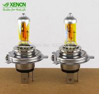 New XENCN H4 12V 60/55W 2300K Golden Super Xenon Yellow Light Bulbs Car Halogen Headlight Long Lifetime Auto Lamp 2PCS