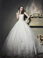 new 2014 princess wedding dress tube top lace decoration sweetheart bandage wedding dress