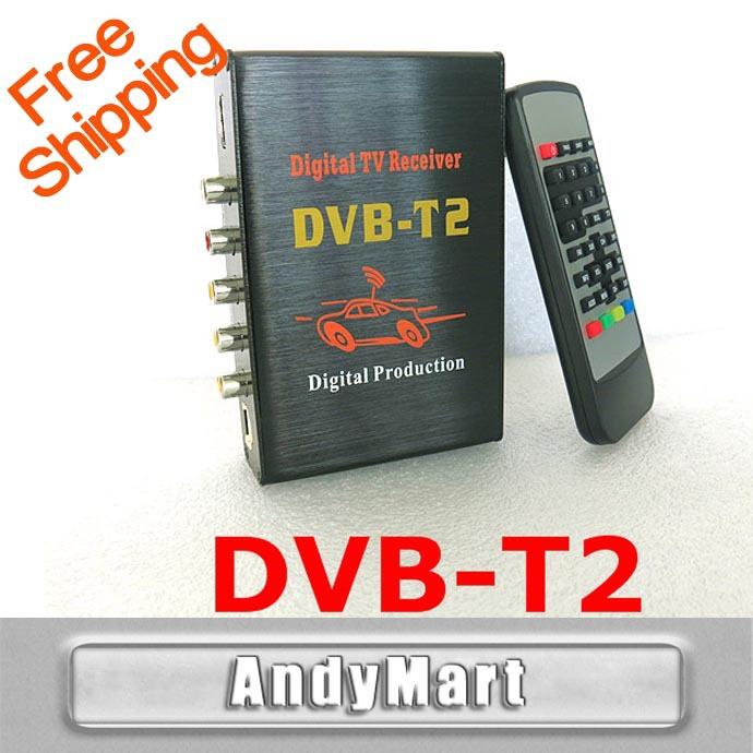 Car TV Tuners DVB T2 H.264 MPEG4 Mobile Digital TV Box External USB DVB-T2 Car TV Receiver Russian Europe Southeast Asia(China (Mainland))