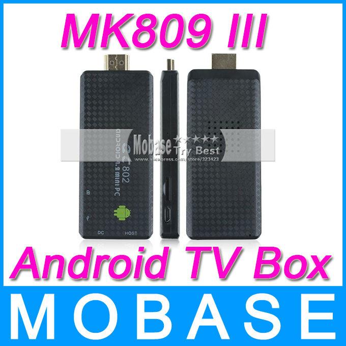 MK809 III Quad Core Android TV Box XBMC Smart TV Media Player IPTV Receiver 2G/8G Wireless HDMI Mirco SD USB Mini PC MK809III(China (Mainland))