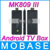 MK809 III Quad Core Android TV Box XBMC Smart TV Media Player IPTV Receiver 2G/8G Wireless HDMI Mirco SD USB Mini PC MK809III