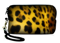 fashion  leopard  neoprene  Soft Universal Compact Digital Camera Case Phone Bag Sleeve Pouch Cover Wallet Purse