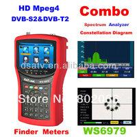 2014 New Arriavel  DVB-S2 & DVB-T2 Combo Meter  SIGNAL FINDER WS6979 spectrum digital satellite meter  finder