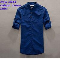 New  2014  men Fashion Casual  slim fit shirt  brand  long sleeve  camisa  shirts  4 color 31063  XS S M L XL XXL XXXL