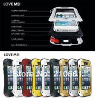 New LOVE MEI Metal Case Shockproof Waterproof Rugged protection for iPhone 5 5S