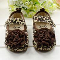 Design 1 Pair Cute Crib Shoes PreWalkers First Walker Brown Leopard Flower Velcro For Baby Girl Kids