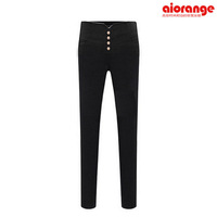 Hitz European and American casual four -breasted British style stretch Ladies pants feet pencil pants female wild